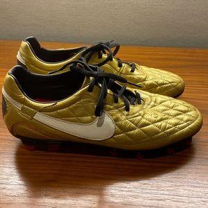Nike Tiempo R10 Gold Cleats